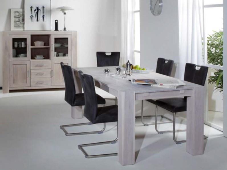 Tavolo rettangolare allungabile 180 cm in legno di rovere - Tavoli ...