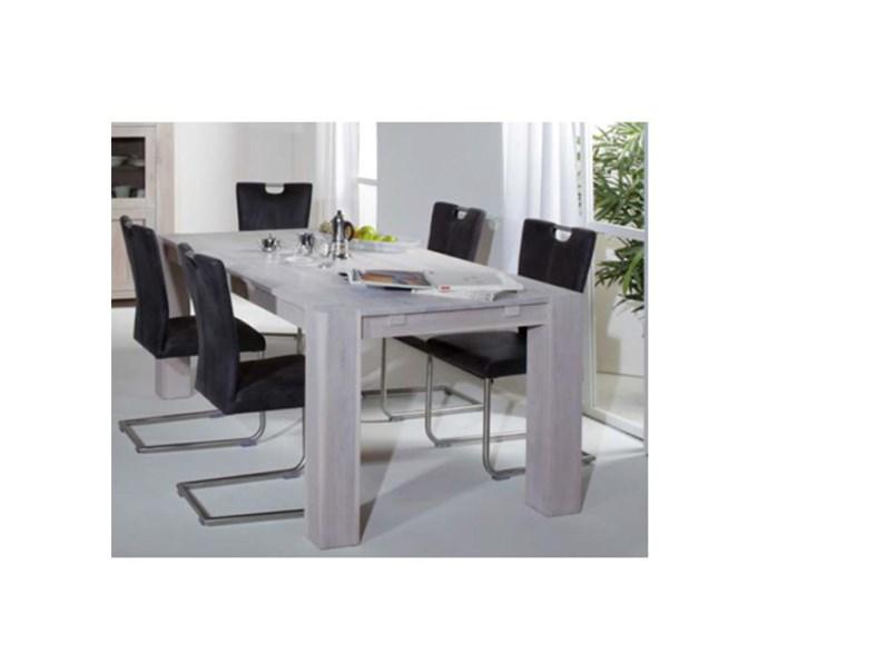 Tavolo rettangolare allungabile 200 cm in legno di rovere - Tavoli ...