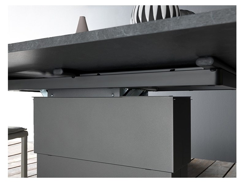 Tavolino trasformabile in tavolo allungabile Ares book ...