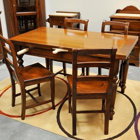 Tavolo rettangolare allungabile da cucina outlet tavoli for Tavolo rettangolare allungabile