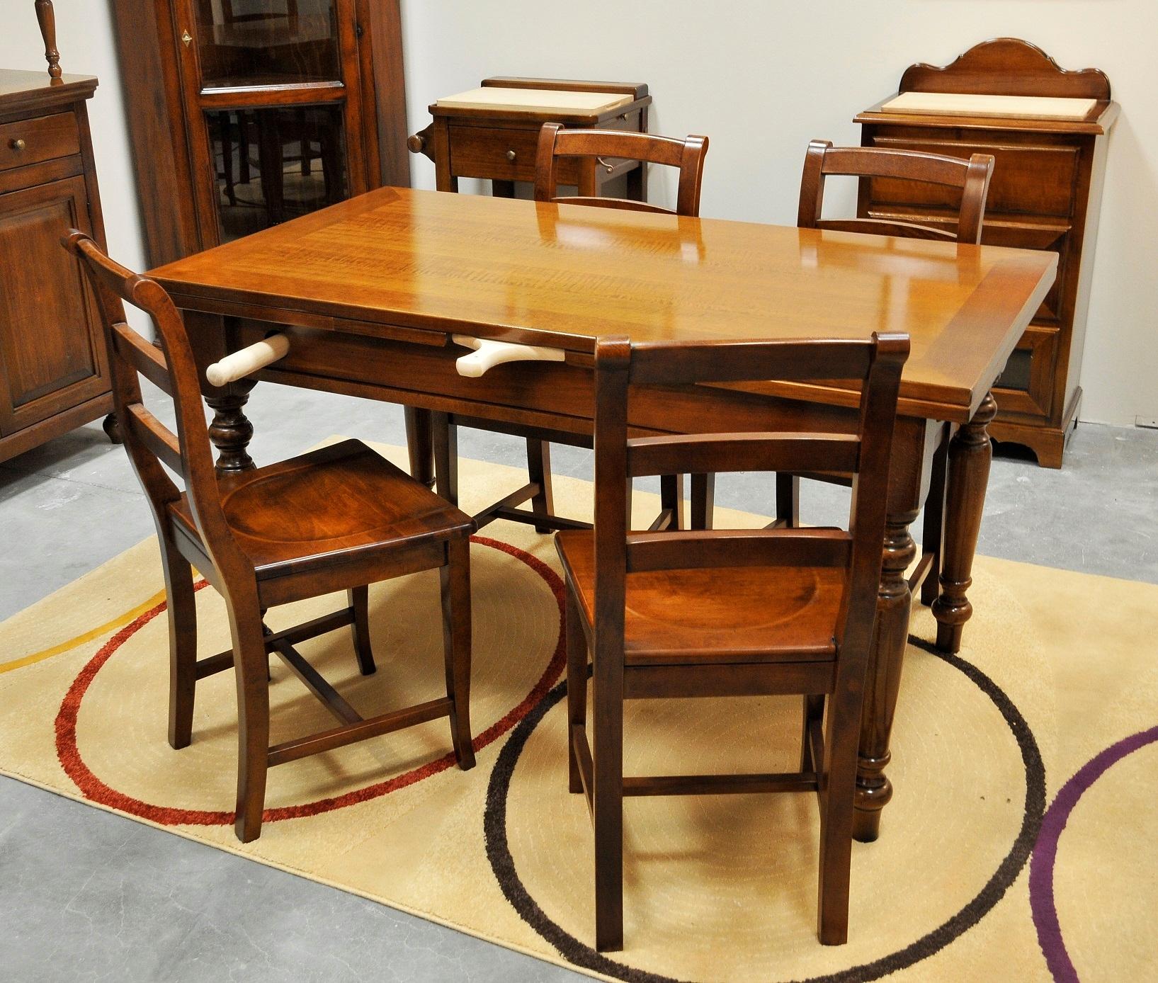 Tavolo rettangolare allungabile da cucina outlet tavoli for Cerco tavolo da cucina allungabile