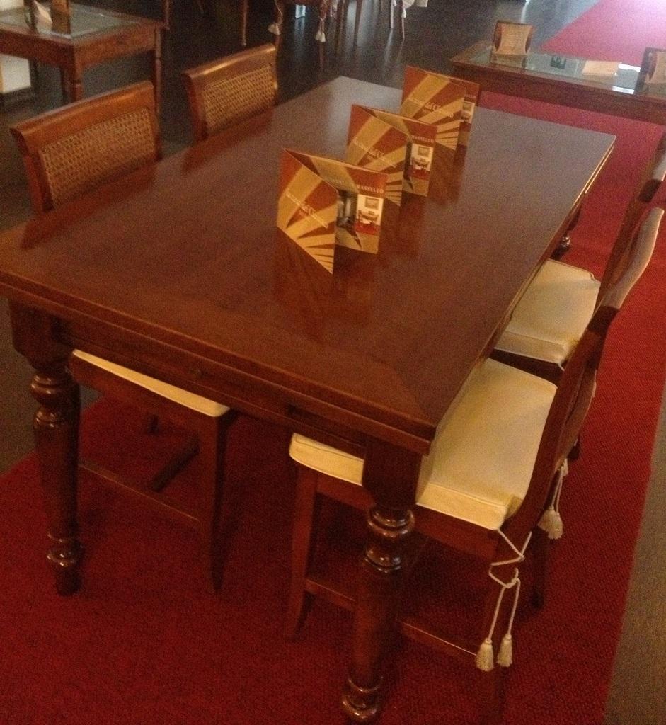 Tavolo rettangolare allungabile da cucina outlet tavoli for Casette in legno prezzi scontati