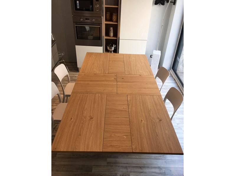 Tavolo rettangolare allungabile e allargabile fil8 in rovere for Tavolo rettangolare allungabile