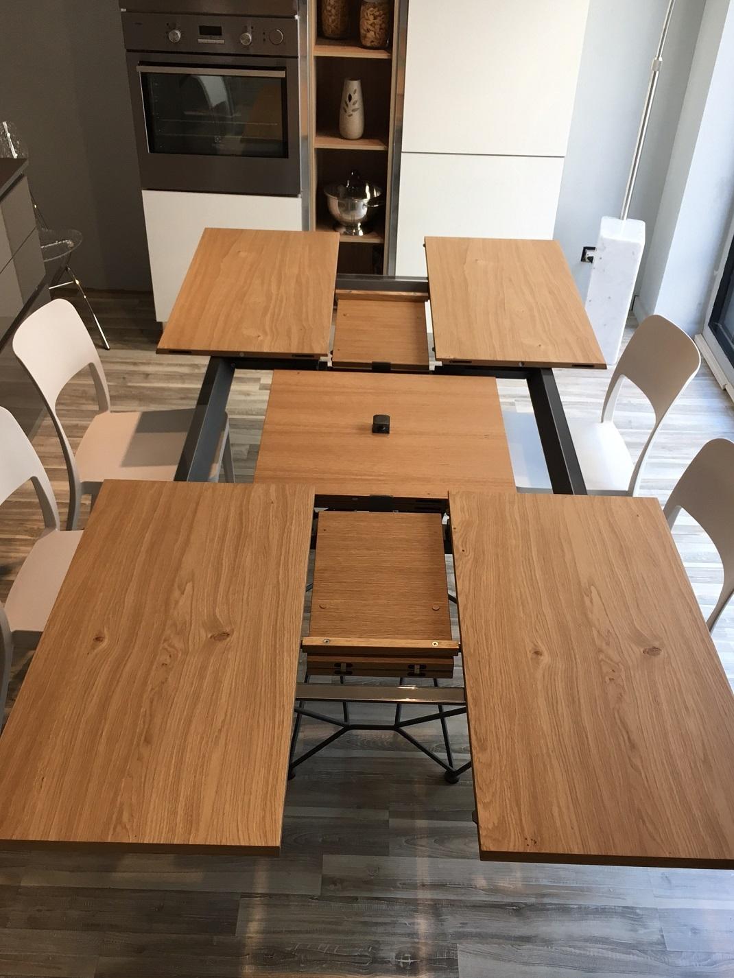 tavolo rettangolare allungabile e allargabile fil8 in