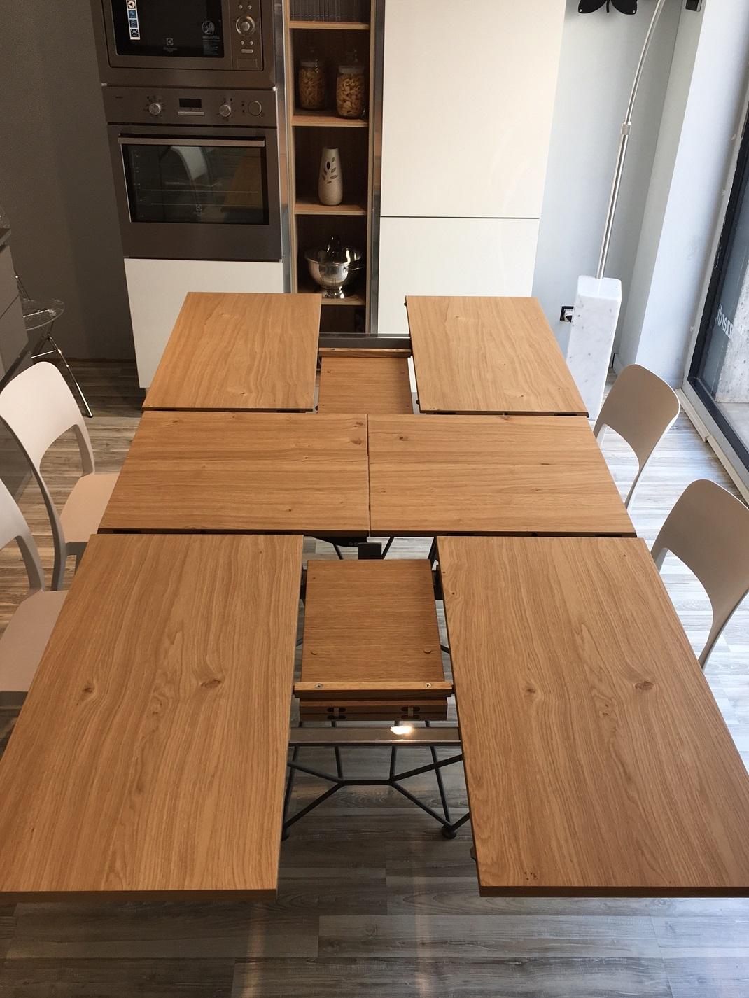Tavolo rettangolare allungabile e allargabile fil8 in for Tavolo rovere allungabile