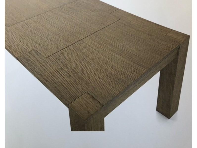 Tavolo rettangolare allungabile in legno massello di artigiani veneti prezzi outlet - Tavolo in legno massello prezzi ...