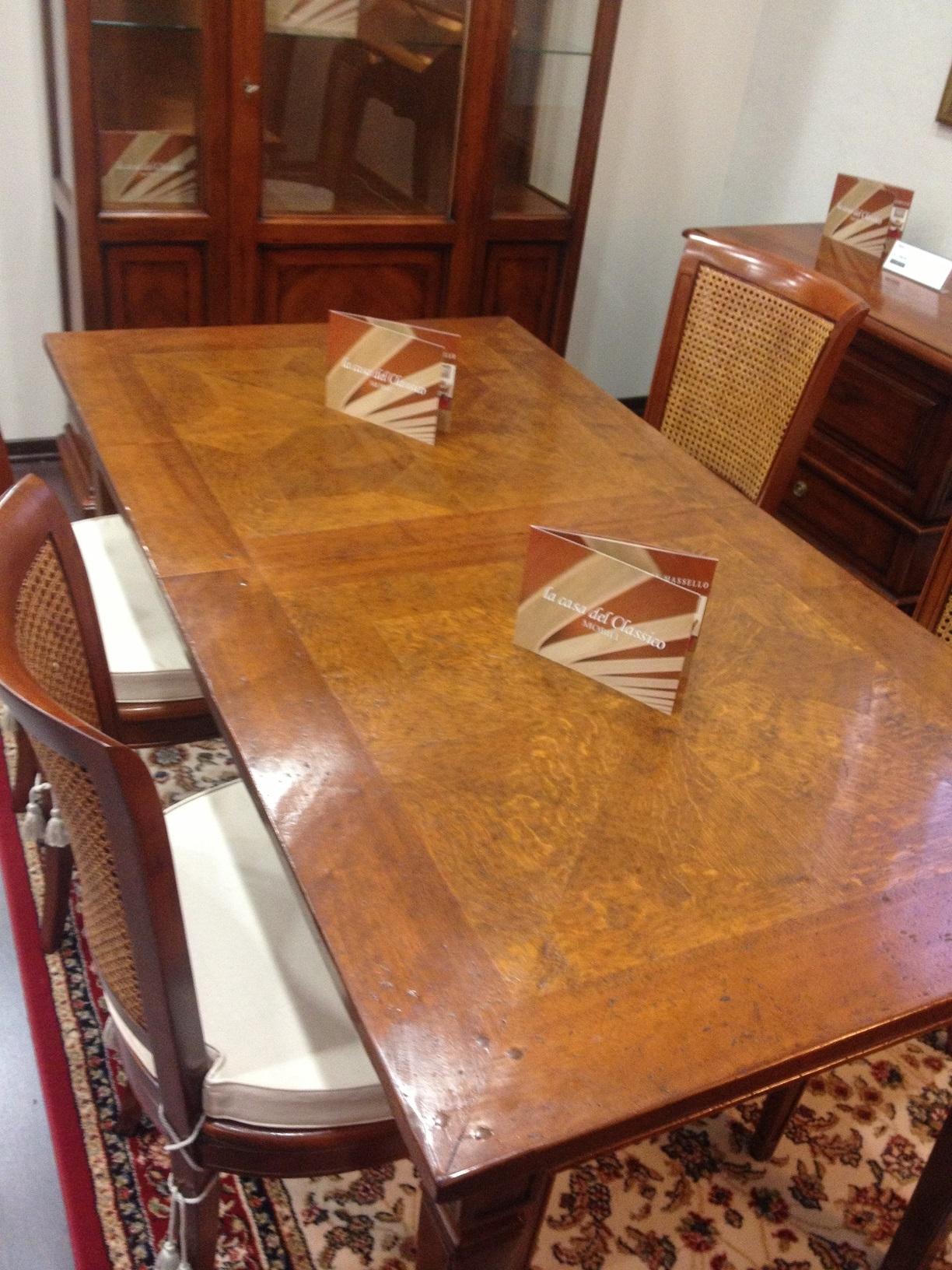 Tavolo rettangolare allungabile sconto outlet tavoli a for Tavolo rettangolare allungabile