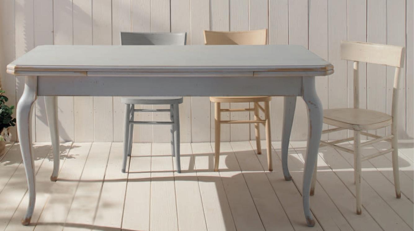 Tavolo rettangolare allungabile shabby chic nuovo a - Tavolo shabby chic ...