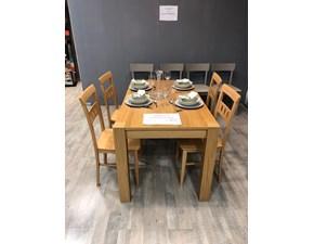 Tavolo rettangolare allungabile Tavolo wood Stones a prezzo ribassato
