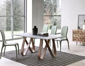 Tavolo rettangolare con basamento a cavalletto Butterfly di Tonin casa