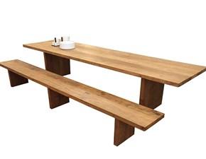 Tavolo rettangolare con basamento a cavalletto Carpenter panca Halifax