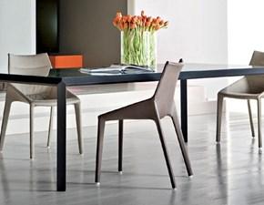Tavolo rettangolare con basamento a quattro gambe 45° Molteni & c