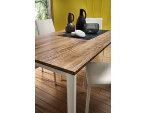 Tavolo rettangolare con basamento a quattro gambe Aaron La primavera