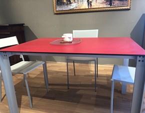 Tavolo rettangolare con basamento a quattro gambe Mini di Miniforms