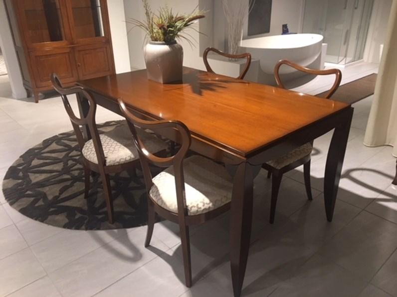 Tavolo rettangolare con basamento a quattro gambe Orione di Le fablier