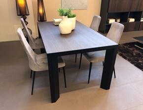 Tavolo rettangolare con basamento a quattro gambe Tavolo lam + sedie etoile Calligaris