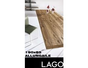 Tavolo rettangolare con basamento centrale Air Lago scontato