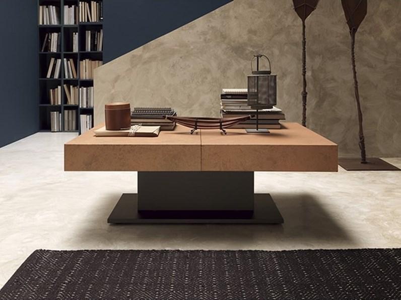 Tavolino Trasformabile Tavolo.Tavolino Trasformabile In Tavolo Con Basamento Centrale Ares Fold Altacom Scontato
