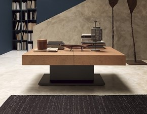 Tavolino trasformabile in tavolo con basamento centrale Ares fold Altacom scontato
