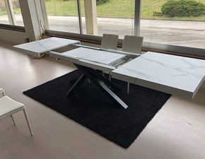 Tavolo rettangolare con basamento centrale Centrale Zr scontato