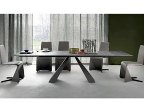 Tavolo rettangolare con basamento centrale Eliot Cattelan scontato