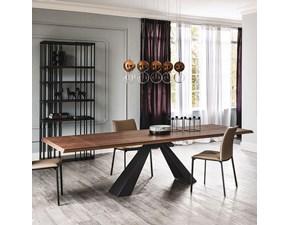 Tavolo rettangolare con basamento centrale Eliot wood drive Cattelan scontato