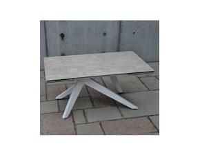Tavolo rettangolare con basamento centrale Malva Artigianale scontato
