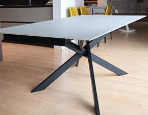 Tavolo rettangolare con basamento centrale Max Artigianale scontato