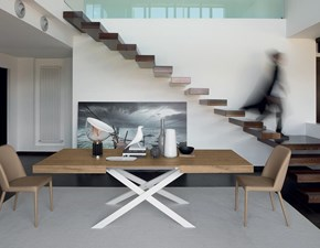 Tavolo rettangolare con basamento centrale Modus Friulsedie scontato