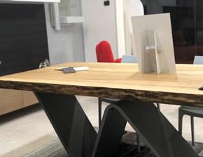 Tavolo rettangolare con basamento centrale Onda Artigianale scontato