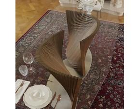 Tavolo rettangolare con basamento centrale Petal Artigianale scontato