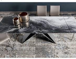 Tavolo rettangolare con basamento centrale Premier crystalart Cattelan scontato