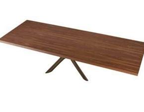 Tavolo rettangolare con basamento centrale Style wood Mottes selection scontato