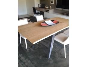 Tavolo rettangolare con basamento centrale Tavolo variant in legno massiccio Ozzio scontato