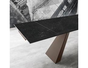 Tavolo rettangolare con basamento con basamento centrale Slide Zamagna