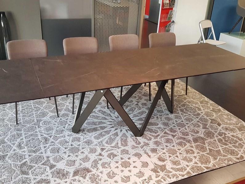 Tavolo rettangolare in ceramica Cartesio Calligaris in Offerta Outlet