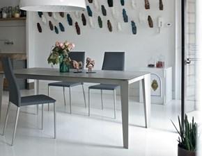Tavolo rettangolare in ceramica Cruz Bontempi casa in Offerta Outlet