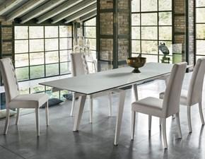 Tavolo rettangolare in ceramica Libeccio 160  Artigianale in Offerta Outlet
