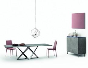 Tavolo rettangolare in ceramica Millennium Bontempi casa in Offerta Outlet