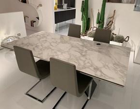 Tavolo rettangolare in ceramica Premier keramik drive Cattelan in Offerta Outlet