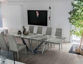 Tavolo rettangolare in ceramica Priamo * Target point in Offerta Outlet