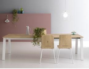 Tavolo rettangolare in laminato Diagonal Artigianale in Offerta Outlet