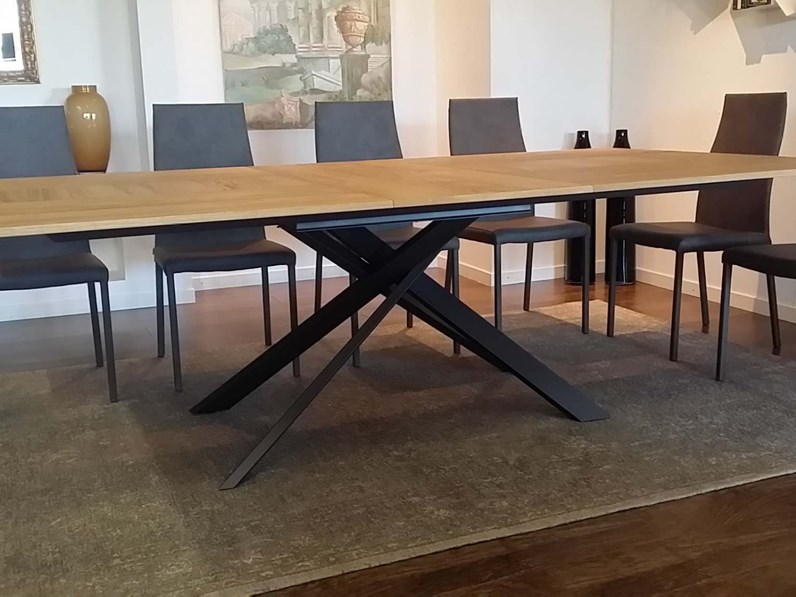 Tavolo rettangolare in legno 4x4 t240 ozzio in offerta outlet for Outlet tavoli design
