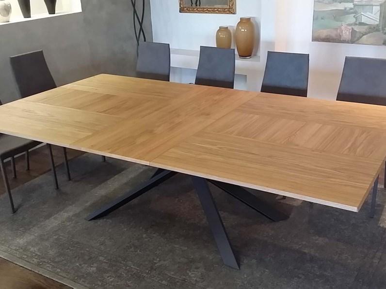 Tavolo rettangolare in legno 4x4 t240 ozzio in offerta outlet for Tavolo design outlet