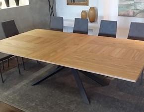 Tavolo rettangolare in legno 4x4 t240 Ozzio in Offerta Outlet