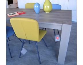 Tavolo rettangolare in legno Acheo di Mirandola in Offerta Outlet