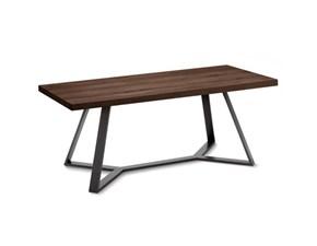 Tavolo rettangolare in legno Archie Domitalia in Offerta Outlet