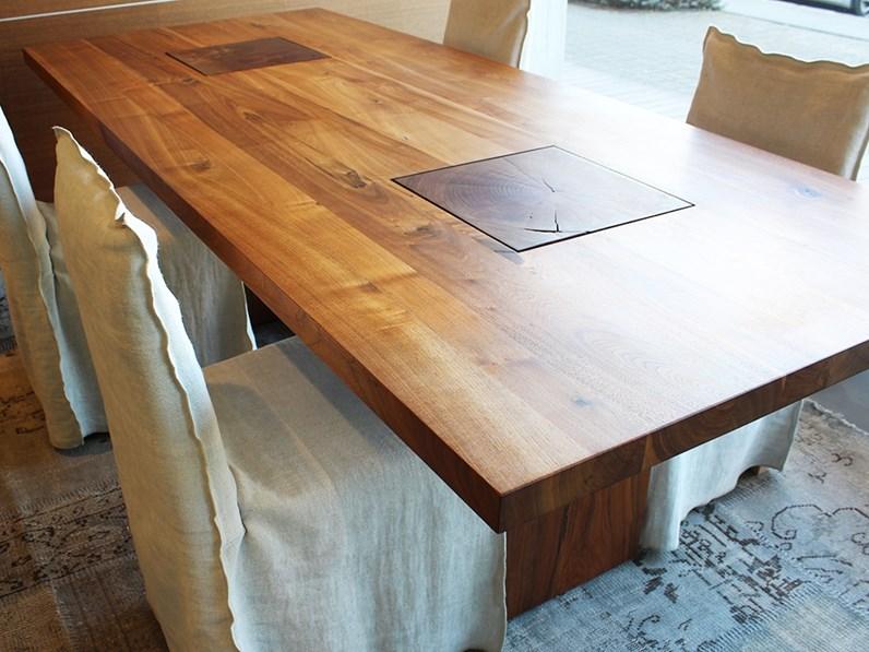 Tavolo rettangolare in legno Boss executive Riva 1920 in Offerta Outlet