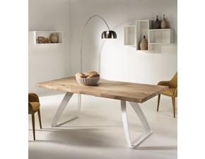 Tavolo rettangolare in legno Bridge Stones in Offerta Outlet