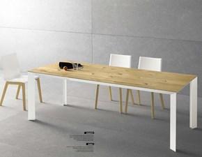 Tavolo rettangolare in legno Diamante Point house in Offerta Outlet